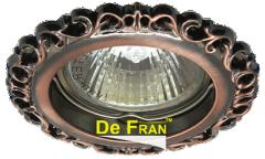 Светильник точечный_DE FRAN_ FT 1118 RAB MR16 крас.античное золото (SD-118 RAB)