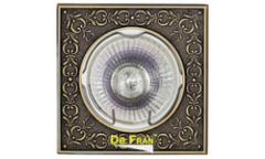 Светильник точечный_DE FRAN_ FT 1130 GAB MR16  зел.античное золото