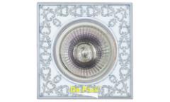 Светильник точечный_DE FRAN_ FT 1130 WHCH MR16  белый с серебром