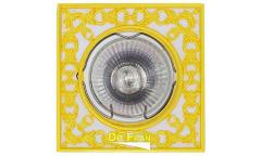 Светильник точечный_DE FRAN_ FT 1130 WHG MR16  белый с золотом