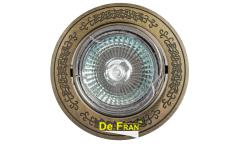 Светильник точечный_DE FRAN_ FT 181A GAB MR16 зел.античное золото