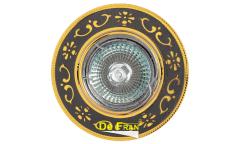 Светильник точечный_DE FRAN_ FT 183 GUG MR16 графит+золото