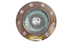 Светильник точечный_DE FRAN_ FT 192 GAB MR16 бронза со стразами