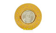 Светильник точечный_DE FRAN_ FT 196 SG MR16 сатин-золото со стразами