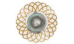 Светильник точечный_DE FRAN_ FT9955 GDWH MR16 золото+белый