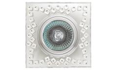 Светильник точечный_DE FRAN_ FT 509 MR16 хром зеркальный+стразы прозрачные