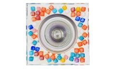 Светильник точечный_DE FRAN_ FT 525 MR16 хром зеркальный+стразы разноцветные