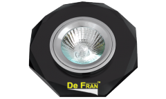 Светильник точечный_DE FRAN_ FT 846 MR16 черное стекло