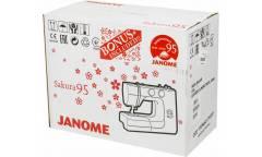 Швейная машина Janome Sakura 95 белый/цветы (кол-во швейных операций -13)