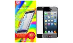 Защитное стекло цветное Krutoff Group для iPhone 5/5S на две стороны (black)
