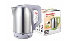 Чайник электрический Чудесница ЭЧ-2022 нержавейка/серый пластик 2200ВТ 1,7л