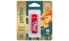 USB флэш-накопитель 16GB Perfeo C04 Red Phoenix USB2.0