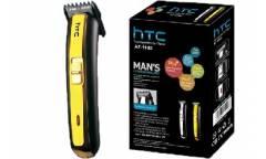 Машинка для стрижки волос НТС, АТ-1102 золотой 2 акк батареи*600мАh