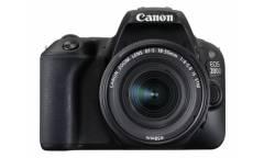 """Зеркальный Фотоаппарат Canon EOS 200D черный 24.2Mpix EF-S 18-55mm f/3.5-5.6 DC III 3"""" 1080p Full HD SDXC Li-ion"""
