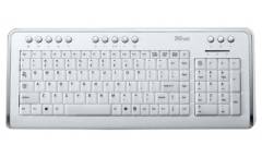 Клавиатура Trust KB-1500 Illuminated Keyboard USB белая