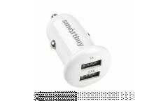 АЗУ адаптер Smartbuy TURBO 2.4А+1 А, белое, 2 USB