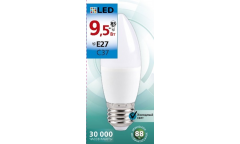 Светодиодная (LED) Лампа Smartbuy-C37-9,5W/6000/E27