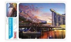 Коврик для мыши Buro BU-M80007 рисунок/город