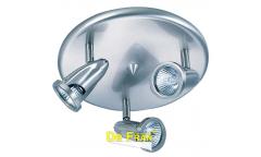 Светильник потолочный галогенный_DE FRAN_ CK60-2-SN _2*G10 _ сатин-никель, d19см
