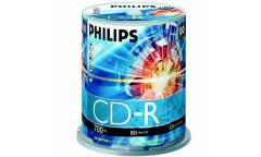 Диск CD-R Philips 700MB 52x CB/100