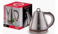 Чайник электрический Eurostek EEK-GL03B нерж сталь/коричневый  1,2л 1100Вт