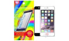 Защитное стекло цветное Krutoff Group для iPhone 6/6S на две стороны (black)
