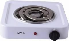 Плитка электрическая настольная Vail VL5212 белый 1000Вт 1конфорка толстая спираль