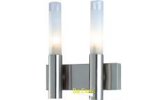 Бра_светильник галоген_DE FRAN_ WLK-022-2-SN_G9 _2*40Вт _матовое стекло, сатин-никель