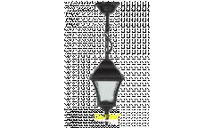 """Светильник сад.-парк._DE FRAN_ TV-880HG E27 60Вт IP44 мет. черн, """"Пушкинский"""" фактурн.стекло _подвес"""