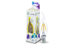 Лампа светодиодная ASD LED-СВЕЧА НА ВЕТРУ-standard 7.5Вт 160-260В Е14 3000К 675Лм
