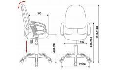 Кресло Бюрократ CH-1300/GREY серый