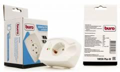Сетевой фильтр Buro 100SH-Plus-W (1 розетка) белый (коробка)