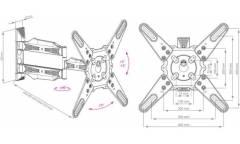 """Кронштейн для телевизора Kromax ATLANTIS-40 белый 22""""-65"""" макс.40кг настенный поворот и наклон"""