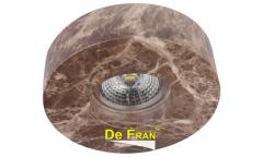 Светильник точечный_DE FRAN_ FT 430 GY MR16 цвет-темный камень D110мм