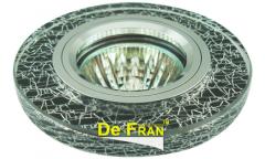 Светильник точечный_DE FRAN_ FT 770 MR16  хром/черный+серебро