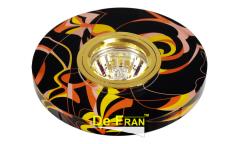 Светильник точечный_DE FRAN_ FT 790 MR16 роспись круг золото/черный+золото