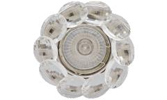 Светильник точечный_DE FRAN_ FT 499 GCL MR16 золото+прозрачные кристаллы