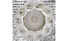 Светильник точечный_DE FRAN_ FT 499 CHCR MR16 хром+перл. кристаллы