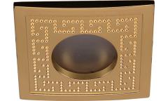 Светильник точечный_DE FRAN_ FT92125 G MR16 золото IP44