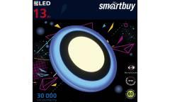Встраиваемый (LED) светильник с подсветкой DLB Smartbuy-13w/3000K+B/IP20