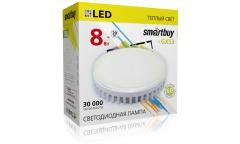 Светодиодный (LED) Tablet GX53 Smartbuy-8W/3000K/Мат стекло
