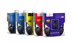 Наушники Hoco W24 Enlighten headphones with microfone set полноразмерные (blue)