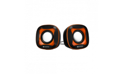 sp CANYON USB 2.0 Speaker, black +orange 021C, 2*3W 4 Ohm, ABS, 1.2m cable with USB2