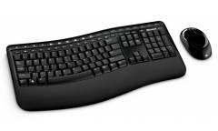 Клавиатура + мышь Microsoft Comfort 5050 клав:черный мышь:черный USB беспроводная Multimedia