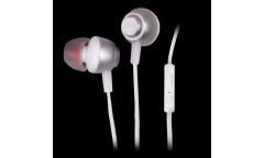 Наушники Ritmix RH-150M внутриканальные с микрофоном серебро