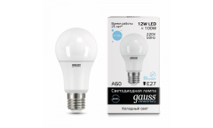 Лампа светодиодная GAUSS _A60_12W/6500K_E27 _Стандарт
