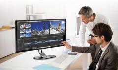 "Монитор Philips 34"" BDM3470UP (00/01) черный IPS LED 21:9 DVI HDMI M/M матовая HAS Pivot 1000:1 320cd 178гр/178гр 3440x1440 D-Sub DisplayPort USB 9.46кг"