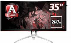 "Монитор AOC 35"" Gaming AG352QCX черный MVA LED 21:9 DVI HDMI M/M матовая HAS Pivot 300cd 2560x1080 D-Sub DisplayPort FHD USB 11.8кг"