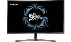 "Монитор Samsung 31.5"" C32HG70QQI темно-серый VA LED 1ms 16:9 HDMI матовая HAS Pivot 350cd 178гр/178гр 2560x1440 DisplayPort QHD USB 9.6кг"