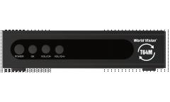 Тюнер T2 World Vision T64M (YouTube, Megogo, IPTV) черный